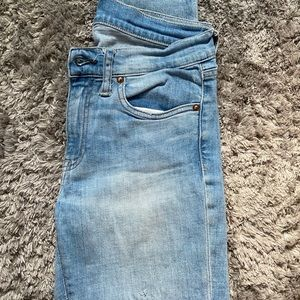 Light wash polo jeans